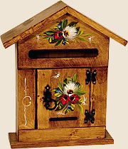 letter-box pine-wood